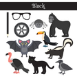 Black Learn the color Education set of primary vector image