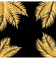 Beautifil Golden Palm Tree Leaf Silhouette vector image