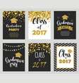 graduation class of 2017 party invitations vector image vector image