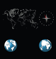 World map and globes vector image