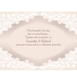 Invitation wedding card with beautiful lace vector image