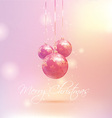 Retro styled Christmas bauble background vector image vector image