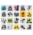 trip hiking logo design template camping vector image