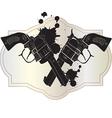 Wild West hand guns vector image