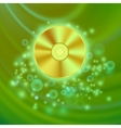 Compact Disc Isolated on Green Wave vector image