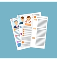 Cv concept resume with photo documents vector image