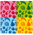 fruits patterns vector image vector image