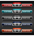 sports score template vector image