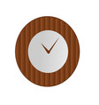 clock icon in wooden bamboo style on isolated vector image
