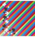 color lines and puzzle vector image