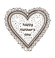 Happy mother day card concept Heart element with vector image