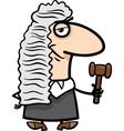judge cartoon vector image