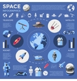 Space Colored Infographic vector image