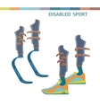 Sporting the lower limbs vector image
