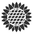 sunflower flower flat icon vector image