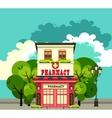Urban Apothecary Building vector image