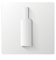 white paper bottle vector image
