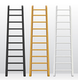 Wooden step ladders set of different colors vector image