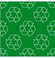 Seamless pattern with ecology signs and icons - vector image