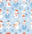 Snowmen seamless Background vector image vector image
