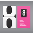 business card number 8 vector image vector image