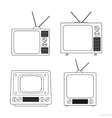 tv screen icon vector image