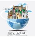 Czech Landmark Global Travel And Journey vector image
