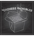 chinese noodles box scetch on a black board vector image