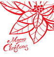 christmas lettering calligraphy on greeting card vector image