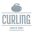 Curling logo simple gray style vector image
