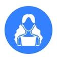Curly girl icon black Single avatarpeaople icon vector image
