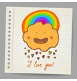 Doodle cloud with hearts Valentine vector image