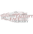 facelift word cloud concept vector image