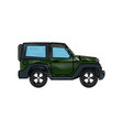 jeep car vehicle adventure travel transport vector image