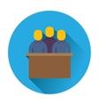 jury trial icon vector image