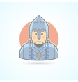 Knight in armor middle age warrior icon vector image