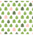 tropical plant seamless pattern vector image