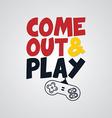 video game joystick banner template vector image