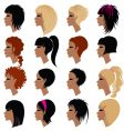 hair styling icons vector image