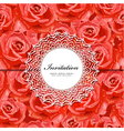 Rose invitation vector image