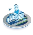Town in isometric vector image vector image
