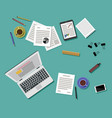 Flat style modern design of office workplace vector image