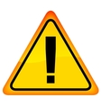 Exclamation danger sign vector image vector image