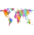 Motley world map vector image vector image