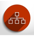 network web icon vector image