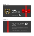Design of Voucher and Gift certificate vector image