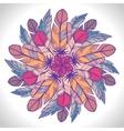 Color circular pattern Round kaleidoscope vector image