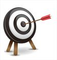 Dart hitting a target vector image vector image