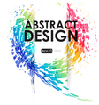 Abstract background with movement geometric elemen vector image