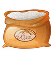 Bag of rice on white background vector image